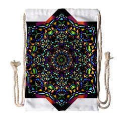 Mandala Abstract Geometric Art Drawstring Bag (large) by Amaryn4rt
