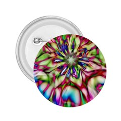 Magic Fractal Flower Multicolored 2 25  Buttons by EDDArt
