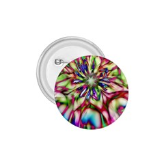 Magic Fractal Flower Multicolored 1 75  Buttons by EDDArt