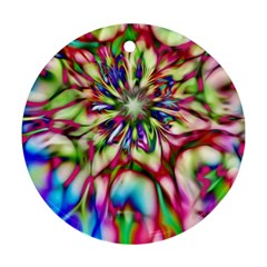 Magic Fractal Flower Multicolored Ornament (round) by EDDArt