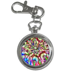 Magic Fractal Flower Multicolored Key Chain Watches by EDDArt
