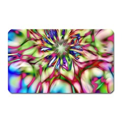 Magic Fractal Flower Multicolored Magnet (rectangular) by EDDArt