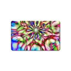 Magic Fractal Flower Multicolored Magnet (name Card) by EDDArt