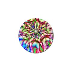 Magic Fractal Flower Multicolored Golf Ball Marker (10 Pack) by EDDArt