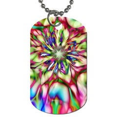 Magic Fractal Flower Multicolored Dog Tag (two Sides) by EDDArt