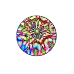 Magic Fractal Flower Multicolored Hat Clip Ball Marker by EDDArt
