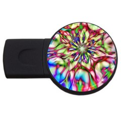 Magic Fractal Flower Multicolored Usb Flash Drive Round (4 Gb) by EDDArt