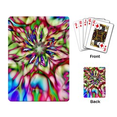 Magic Fractal Flower Multicolored Playing Card by EDDArt
