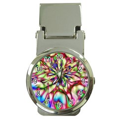 Magic Fractal Flower Multicolored Money Clip Watches by EDDArt