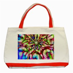 Magic Fractal Flower Multicolored Classic Tote Bag (red) by EDDArt