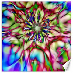 Magic Fractal Flower Multicolored Canvas 12  X 12   by EDDArt