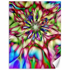 Magic Fractal Flower Multicolored Canvas 12  X 16   by EDDArt