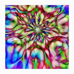 Magic Fractal Flower Multicolored Medium Glasses Cloth by EDDArt