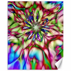 Magic Fractal Flower Multicolored Canvas 11  X 14   by EDDArt