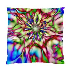 Magic Fractal Flower Multicolored Standard Cushion Case (two Sides) by EDDArt