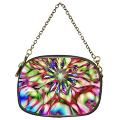 Magic Fractal Flower Multicolored Chain Purses (two Sides)  by EDDArt
