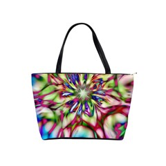 Magic Fractal Flower Multicolored Shoulder Handbags by EDDArt