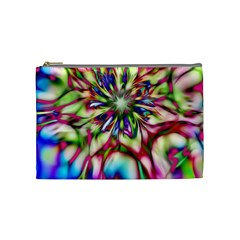 Magic Fractal Flower Multicolored Cosmetic Bag (medium)  by EDDArt