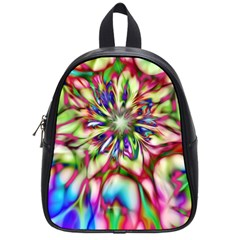 Magic Fractal Flower Multicolored School Bags (small)  by EDDArt
