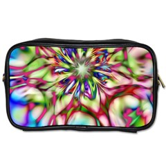 Magic Fractal Flower Multicolored Toiletries Bags by EDDArt