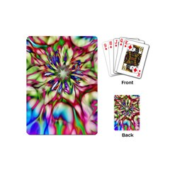 Magic Fractal Flower Multicolored Playing Cards (mini)  by EDDArt