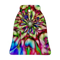Magic Fractal Flower Multicolored Ornament (bell) by EDDArt