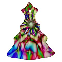 Magic Fractal Flower Multicolored Christmas Tree Ornament (two Sides) by EDDArt