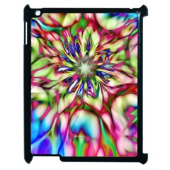 Magic Fractal Flower Multicolored Apple Ipad 2 Case (black) by EDDArt