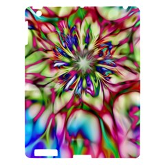 Magic Fractal Flower Multicolored Apple Ipad 3/4 Hardshell Case by EDDArt
