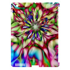 Magic Fractal Flower Multicolored Apple Ipad 3/4 Hardshell Case (compatible With Smart Cover) by EDDArt