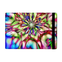 Magic Fractal Flower Multicolored Apple Ipad Mini Flip Case by EDDArt