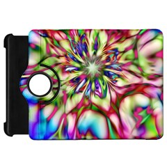 Magic Fractal Flower Multicolored Kindle Fire Hd 7  by EDDArt