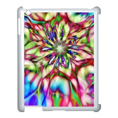 Magic Fractal Flower Multicolored Apple Ipad 3/4 Case (white) by EDDArt