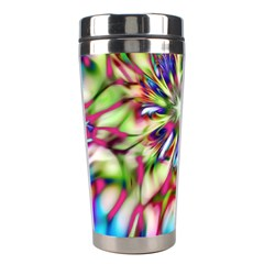 Magic Fractal Flower Multicolored Stainless Steel Travel Tumblers by EDDArt