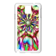 Magic Fractal Flower Multicolored Samsung Galaxy Note 3 N9005 Case (white) by EDDArt