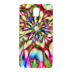 Magic Fractal Flower Multicolored Samsung Galaxy Note 3 N9005 Hardshell Back Case by EDDArt