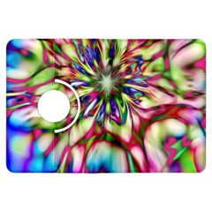 Magic Fractal Flower Multicolored Kindle Fire Hdx Flip 360 Case by EDDArt