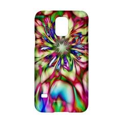 Magic Fractal Flower Multicolored Samsung Galaxy S5 Hardshell Case  by EDDArt