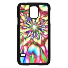 Magic Fractal Flower Multicolored Samsung Galaxy S5 Case (black) by EDDArt