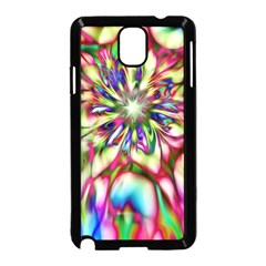 Magic Fractal Flower Multicolored Samsung Galaxy Note 3 Neo Hardshell Case (black) by EDDArt