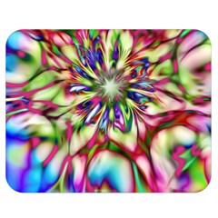 Magic Fractal Flower Multicolored Double Sided Flano Blanket (medium)  by EDDArt
