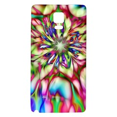 Magic Fractal Flower Multicolored Galaxy Note 4 Back Case by EDDArt
