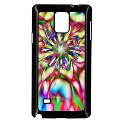 Magic Fractal Flower Multicolored Samsung Galaxy Note 4 Case (black) by EDDArt