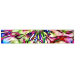 Magic Fractal Flower Multicolored Flano Scarf (large) by EDDArt