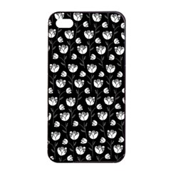 Floral Pattern Apple Iphone 4/4s Seamless Case (black) by Valentinaart