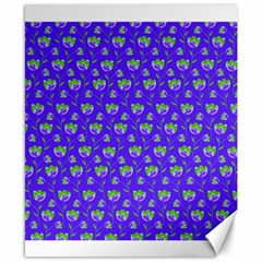 Floral Pattern Canvas 8  X 10  by Valentinaart