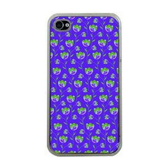 Floral Pattern Apple Iphone 4 Case (clear) by Valentinaart