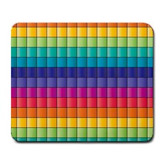 Pattern Grid Squares Texture Large Mousepads by Amaryn4rt