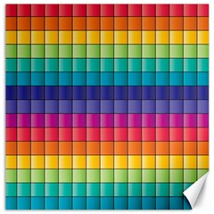 Pattern Grid Squares Texture Canvas 12  X 12   by Amaryn4rt