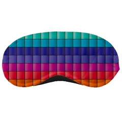 Pattern Grid Squares Texture Sleeping Masks by Amaryn4rt